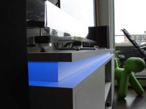 LED verlichting audiomeubel laten maken