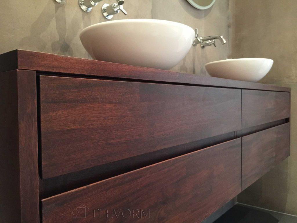 badkamermeubel mahonie op maat dievorm