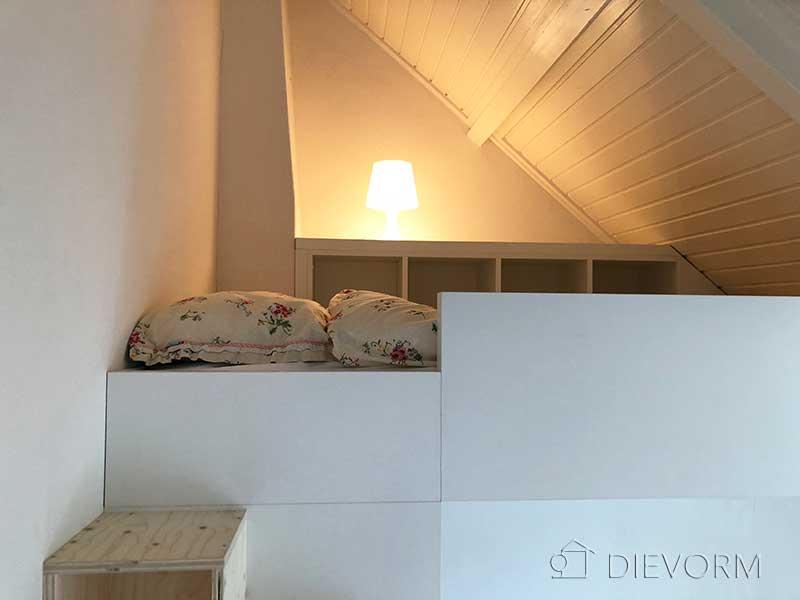 hoogslaper onder schuin dak op maat laten maken