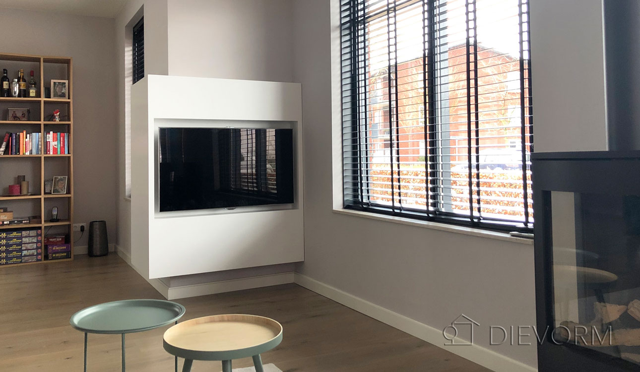 TV-Meubel-Kast-Inbouw-Modern-Wit-Op-Maat-Nijmegen