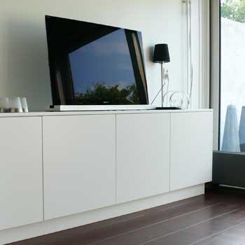 Tv kast mijn kasten op maat for Inbouwkast op maat