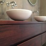 badkamermeubel op maat mahoniehout